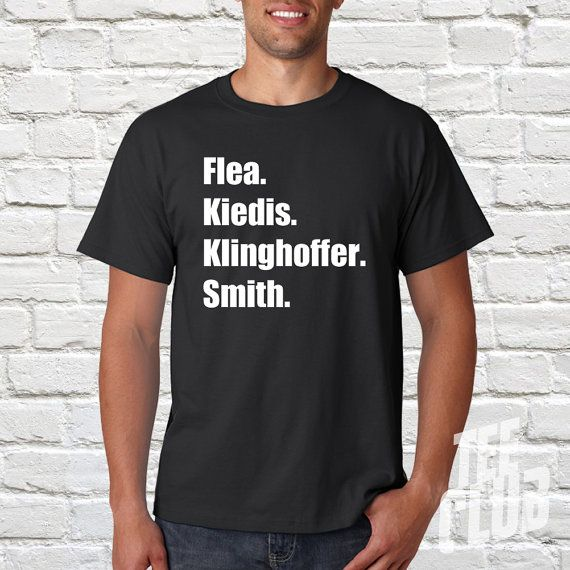 Red Hot Chili Peppers T-shirt Flea Kiedis Klinghoffer by TeeClub