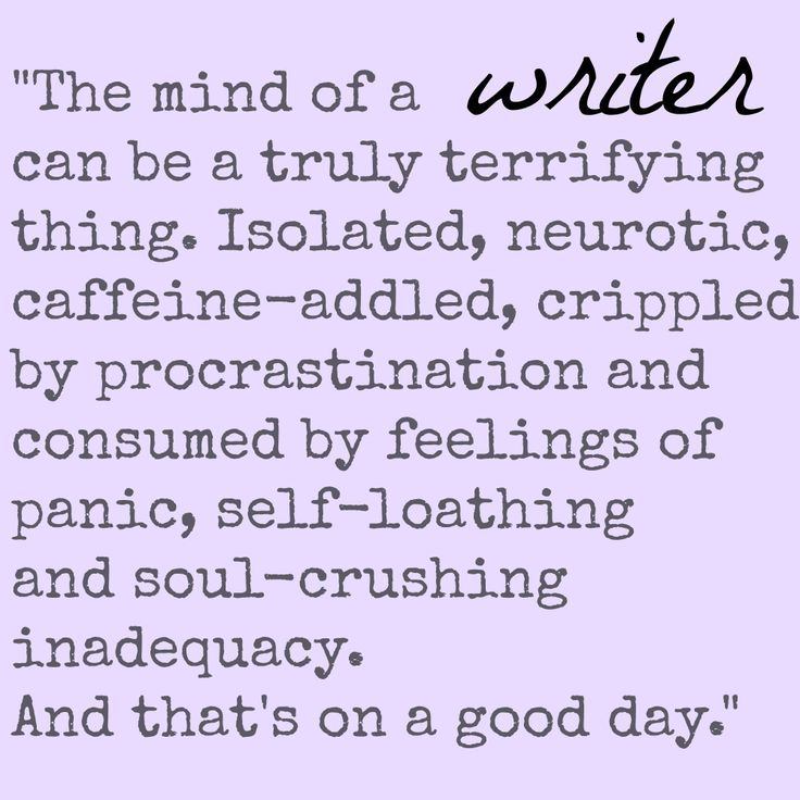 The mind of a writer...