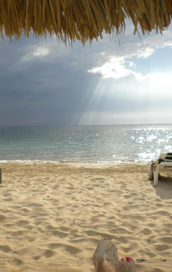 ❥ Negril, Jamaica~ that's my friend's toes in the bottom of the picture. <3 :)