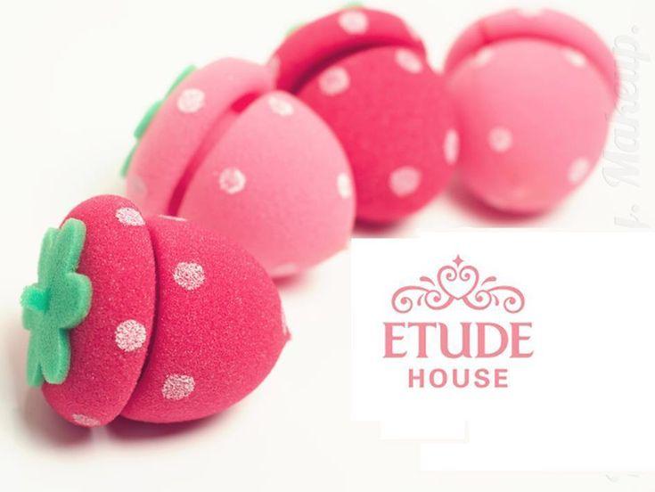 ETUDE HOUSE Strawberry Sponge Hair Roll