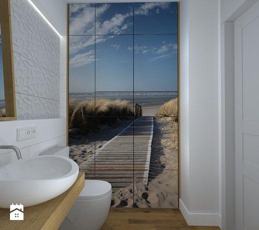 kawalerka na wesoło - Mała łazienka w bloku bez okna, styl skandynawski - zdjęcie od RedCubeDesign projektowanie wnętrz