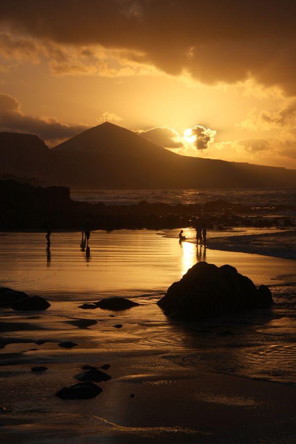 Puesta de sol en la Playa de Quintanilla - Arucas - Gran Canaria