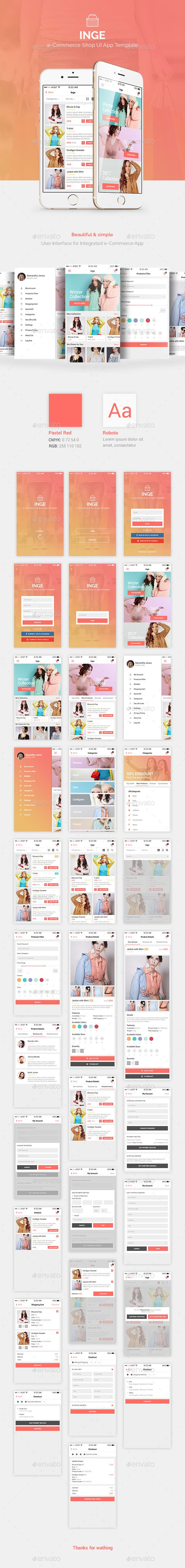 Inge e-Commerce Shop UI App Template — Photoshop PSD #modern #ui kit • Download ➝ https://graphicriver.net/item/inge-ecommerce-shop-ui-app-template/19260602?ref=pxcr