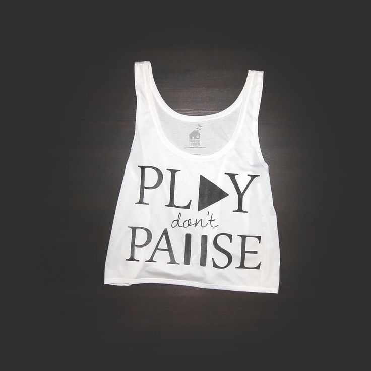 Play Dont Pause Crop Top