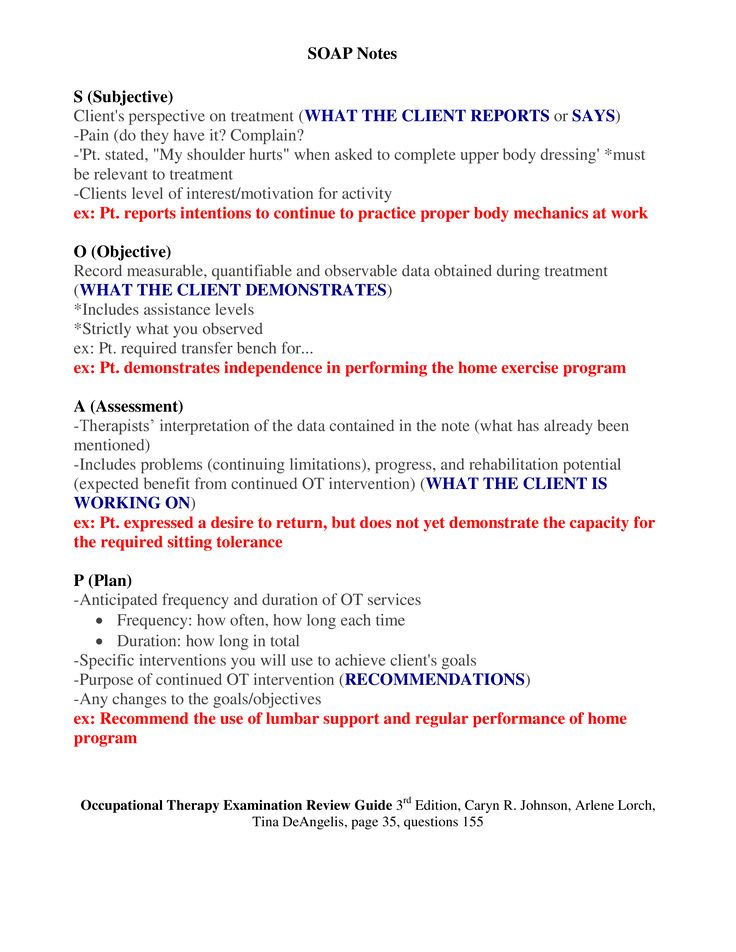 Soap Note Soap Note Sample Soap Note Examples Soap Note Template