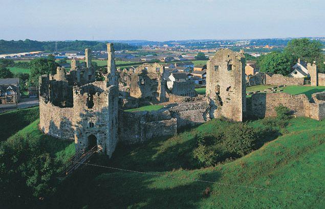 Coity Castle, near Bridgend - Cadw. Open daily.