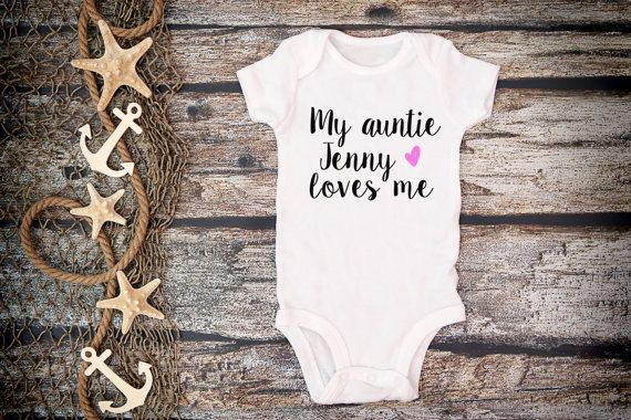 Custom My Auntie Loves Me OnesieAuntie Loves by bravelittleleaders