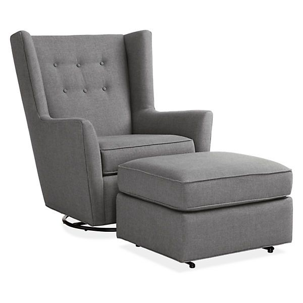 Wren Swivel Glider Chair & Ottoman in Sunbrella® Canvas Fabric - Rockers & Gliders - Kids - Room & Board