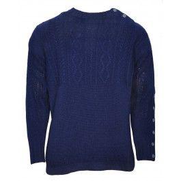 BOLONGARO TREVOR FISHERMAN KNIT (NAVY) - Knitwear - Menswear