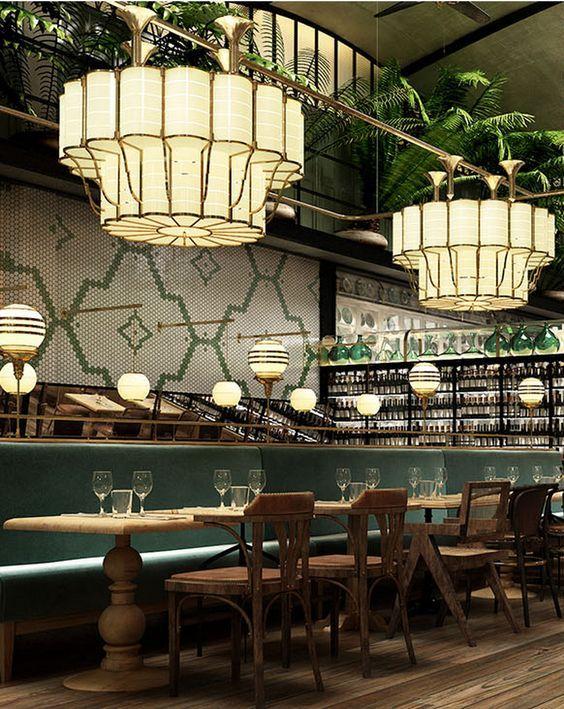 Restaurant Interior Design Ideas. Restaurant Lighting Ideas. Restaurant Dining Chairs. #restaurantinterior #restaurantinteriors www.brabbucontract.com: