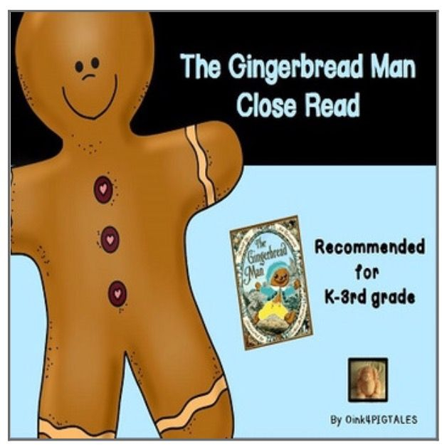 The Gingerbread Man Read Aloud Book Activities | TPT ...