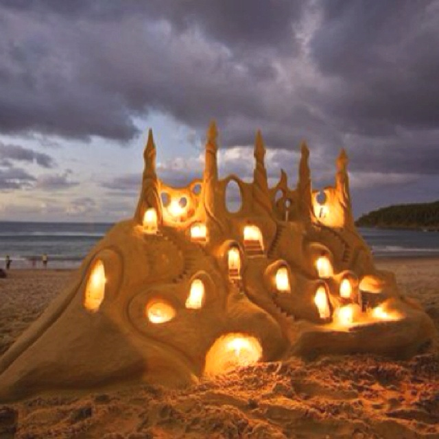 I have a thing for sand art. Just another reason why I need to live on the ocean!: Sands, Sand Art, Favorite Places, Sand Castles, Beautiful, Beach, Things