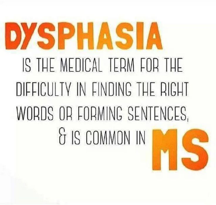 Multiple Sclerosis Awareness Difficulty with finding the right words or forming sentences #Dysphasia #msawareness #curems #ms #msstrong #multiplesclerosisawareness +MS Memes and more Multiple Sclerosis Information   https://www.facebook.com/msmemesandmore/photos/a.493606157494215.1073741834.442627485925416/498097270378437/
