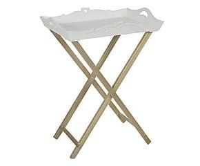 Tavolino in paulonia con top estraibile Luna - 56x75x41 cm