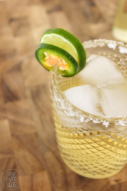 Margarita with jalapeno syrup