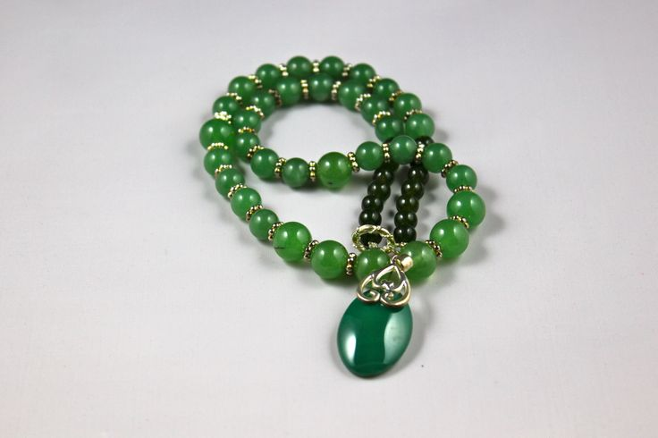 "18"" Green Jade Pendant, This necklace is so beautiful it can Adorne your wardrobe"