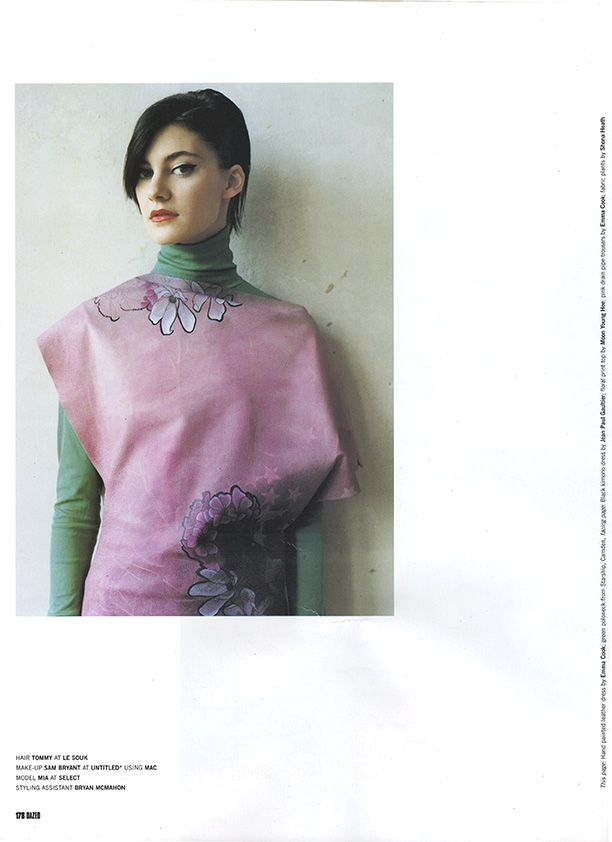 EMMA COOK HANDPAINTED LEATHER DRESS