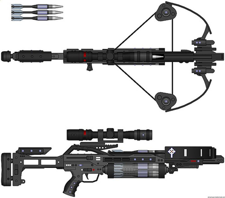 crossbow van helsing futuristic weapon laser blaster cross bow automatic shotgun.jpg (1600×1408)