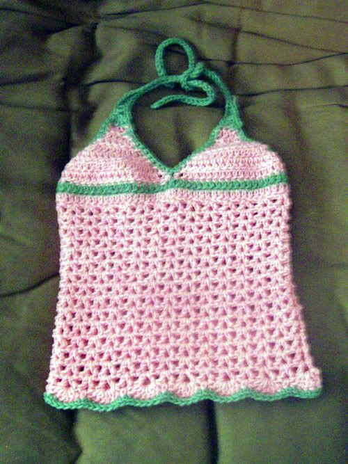 Free Crochet Pattern For Halter Tops Dancox For