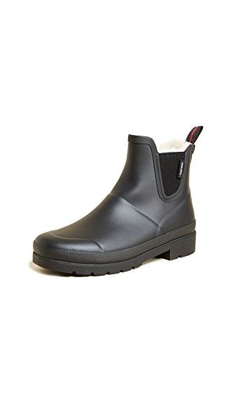 TRETORN LINA FAUX FUR RAIN BOOTIES. #tretorn #shoes #