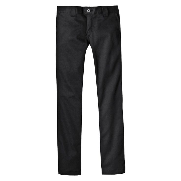 Dickies Boys' Skinny Straight Pant - Black 16, Boy's