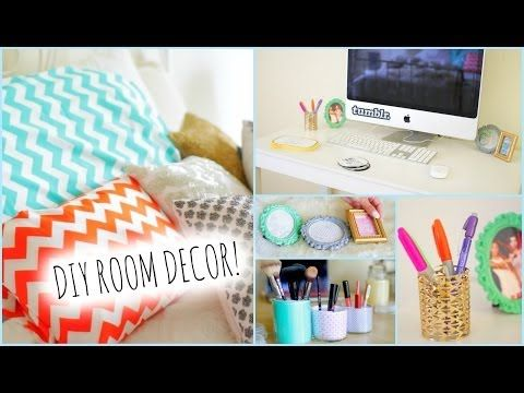 ▶ DIY Room Decorations for Cheap! + How to stay Organized - YouTube