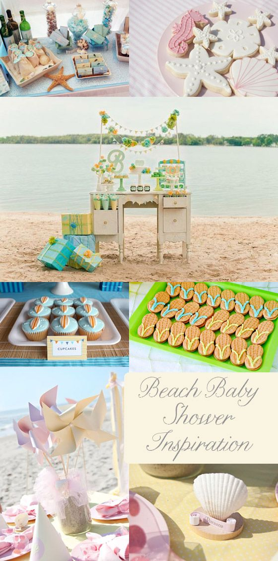 beach baby shower inspiration Beach Baby! {Baby Shower Inspiration}