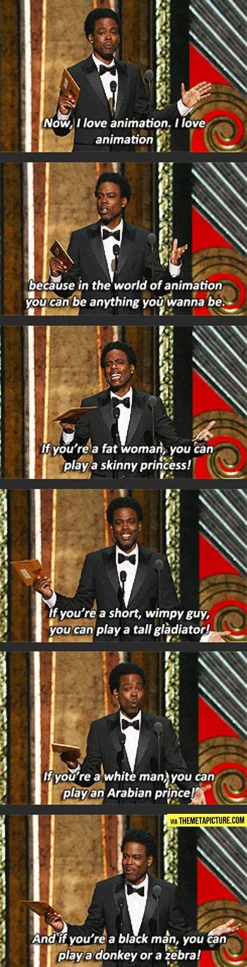 Chris Rock's love for animation…