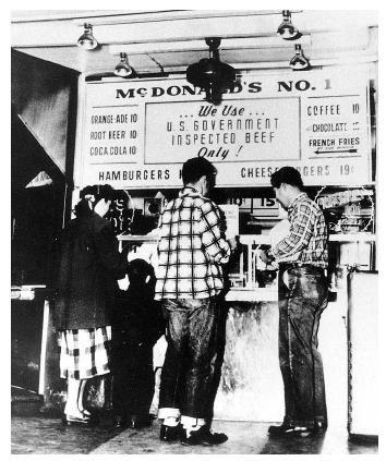 1940 primer tienda de Mc Donald's