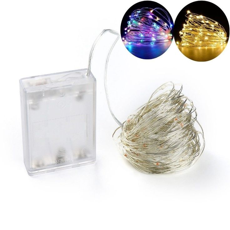 Battery Led String Light 10M 100LED Battery Operated Garland Home Christmas Deco #Unbranded