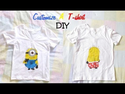 [DIY n°2] customize a t-shirt with fabric markers