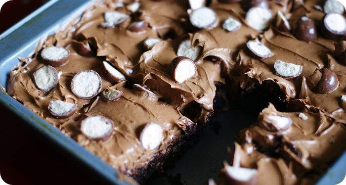 whoppers brownies frosting close photo whoppersbrowniesfrostingclose ...
