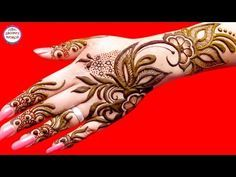 How To Apply Simple Arabic Mehndi Designs For Back Hands | Jewellery Style Henna by Jyoti Sachdeva. - YouTube