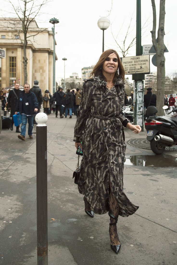 Couture SS16 Week, Paris Street Style - Carine Roitfeld