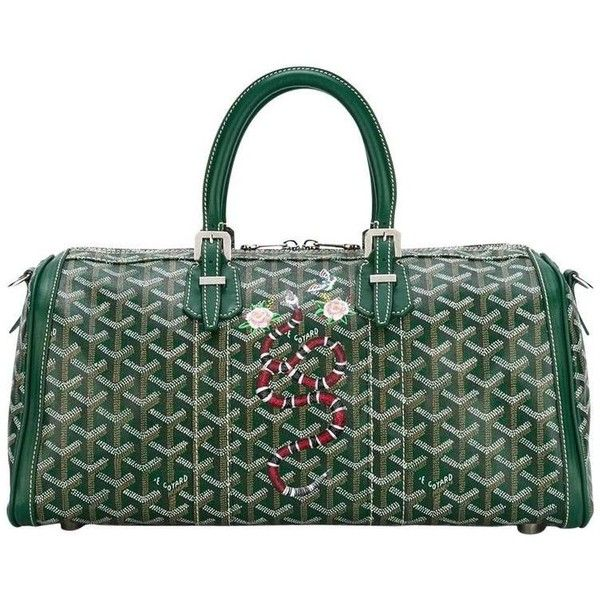 Preowned Goyard Croisière Tote ($3,500) ❤ liked on Polyvore featuring bags, handbags, tote bags, black, totes, vintage leather tote bag, zip top leather tote, goyard tote, leather handbags and leather tote handbags