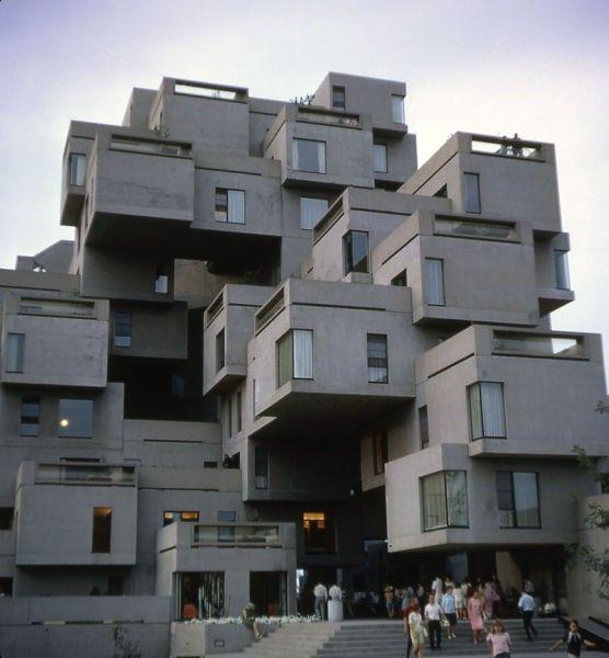 Moshie Safdie. Habitat 67. Prefab and informal