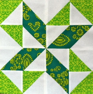 Star and pinwheel all in one, made from half-square triangles