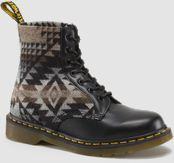 Pendleton by Dr. Martens. These are great with jeggings, cuffed skinny jeans, and simple dresses with tights.