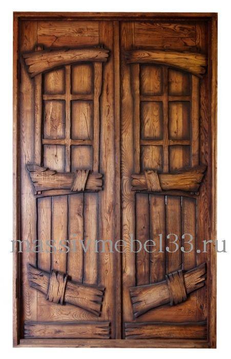 Мебель на заказ в Москве из сосны,дуба:Дверь деревянная глухая во Владимире