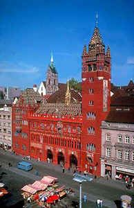 Marktplatz, Basel, Switzerland - the city hall is a beautiful spot in Basel, a city we called home for two years.