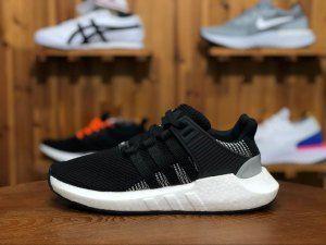 ea0e91b2b045 Mens Womens Adidas Originals EQT Support 93 17 Black   White BY9509 Running  Shoes