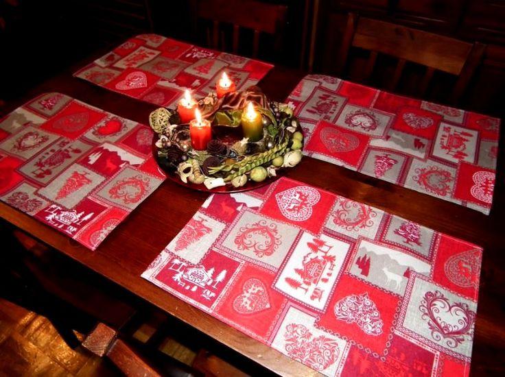 Karácsonyi tányéralátétek