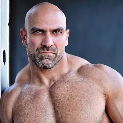 Man crush of the week: Michael Demello.    Oh dear Neptune, this man got me pregnant just from looking at him! He wreaks from the stench of manly!    #michaeldemello #muscle #muscular #beef #hot #bodybuilder #man #god #hunk #hunky #daddy #damn #pose #huge #powerful #power #arms #biceps #abs #abdominals #chest #pecs #pectorals #manly #papi #hairy #hair #bald #baldy #shoulders