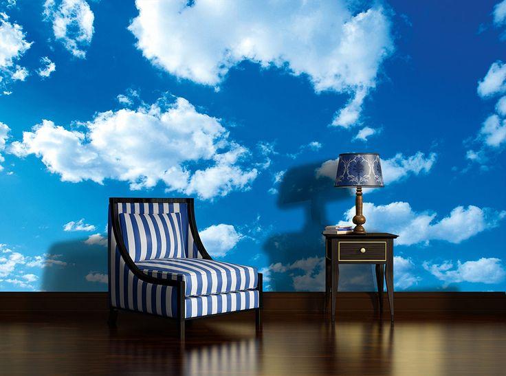 Ciel bleu: #ciel #papierpeint #nuage #bleu