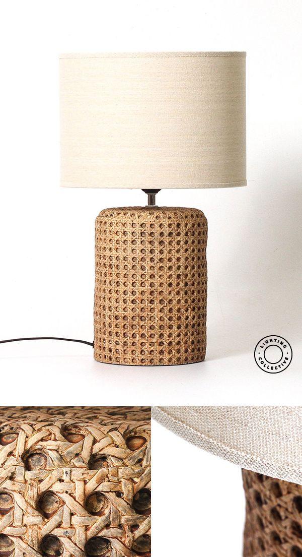 Open Weave Concrete Rattan Table Lamp#concrete #lamp #open