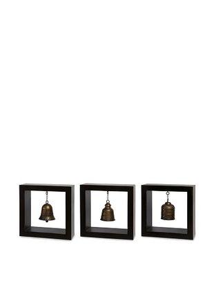 Indochine Framed Bells, Black/Gold