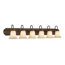 Millennium Lighting 6-Light Rubbed Bronze Standard Bathroom Vanity Light