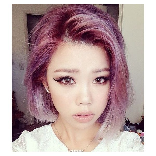 How to get pastel hair (from dark Asian hair) ❤ liked on Polyvore featuring accessories and hair accessories