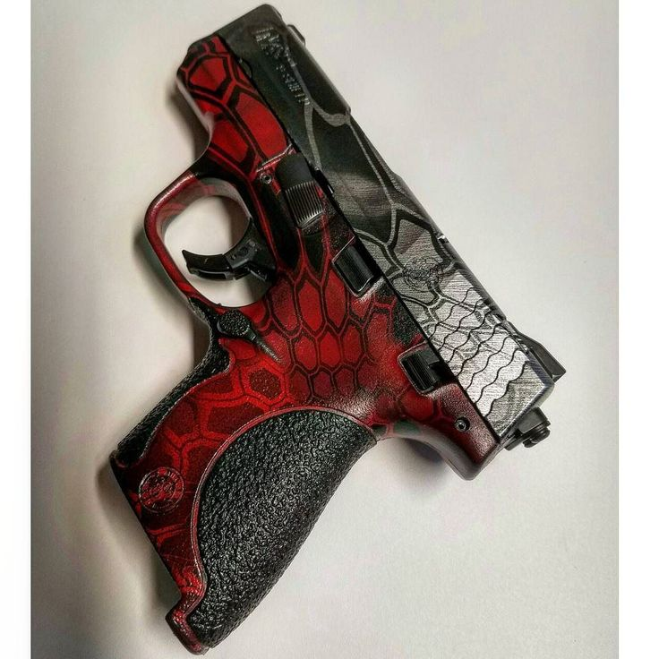 Look at this sweet M&P Shield 9mm pistol we just finished #hydrodipping for our client... Project details: Black M&P SHIELD 9MM  Slide...black parts clear base by OHW applied  #hydrodipped first in Brushed steel from Big Brain Graphics  then double dipped in Kryptek Universal Camo sealed with 2K Matte Clear Coat from OHW  Lower...black parts Red base by OHW applied then distressed to show faded red with black  #hydrodipped in Kryptek Universal Camo sealed with 2K Matte Clear Coat from OHW…