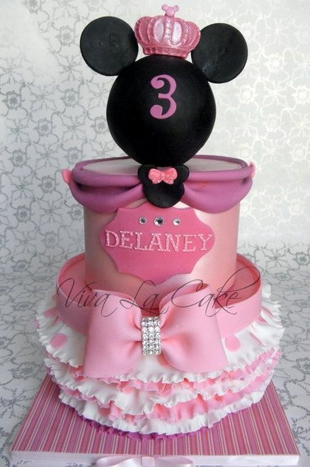 370 best minnie mouse pink cakes images on pinterest - Princesse minnie ...